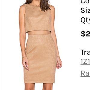 Suede CutOut Dress